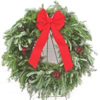 Decorated Fraser Fir Wreath image
